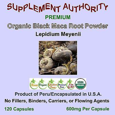 - Maca Root Powder Black Organic - 120 Cap Bag - Top Seller - SUPERIOR QUALITY!
