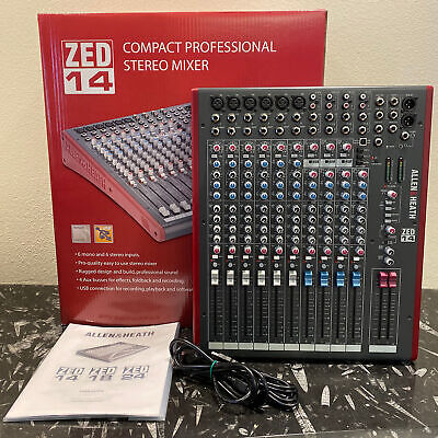 Allen & Heath ZED-14 Multipurpose Audio Mixer - Factory Re-Certified w/ Warranty