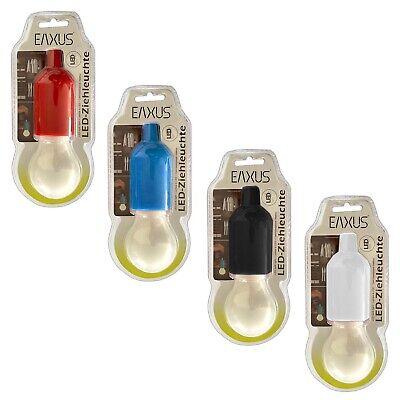4er Set LED Ziehleuchte Mehrfarbig | Kabellose Zuglampe Blau Rot Schwarz Weiß