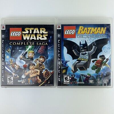 LEGO Star Wars The Complete Saga and Batman Lot of 2 PS3 Games Playstation 3