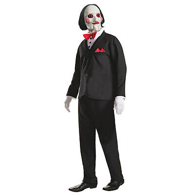 Billy Jigsaw Official Costume Saw Film Horror Halloween Fancy Dress Mens Costume