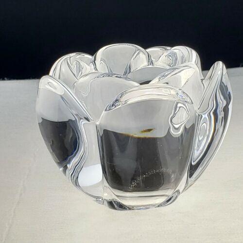 "Royal Copenhagen Crystal Lotus Votive Candle Holder Tealight 4"" x 4"""