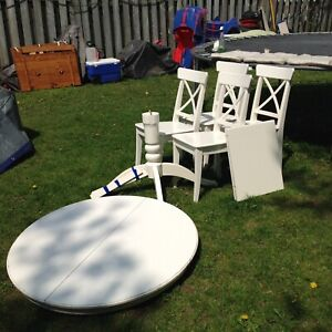 Ikea round table with 4 chairs
