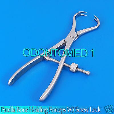 Patella Bone Holding Forceps W Screw Lock Orthopedic 7.25