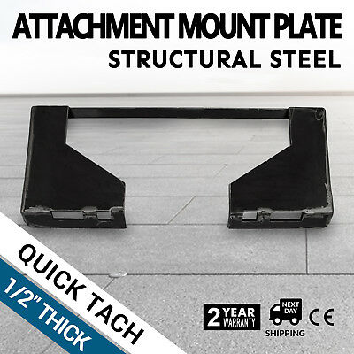 12 Quick Tach Attachment Mount Plate Universal Receiver Skid Steer
