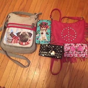 Two gorgeous purses with three stunning Claris wallet