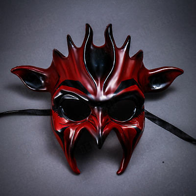Red Venetian Demon Alien Devil Masks Men Masquerade Halloween Costume - Masks For Men Halloween