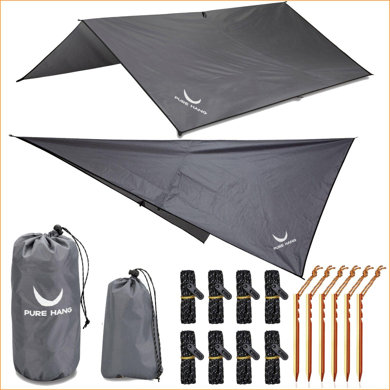 Tarp 3x3 Wasserdicht Sonnensegel Hängematte Outdoor Camping Zelt Plane