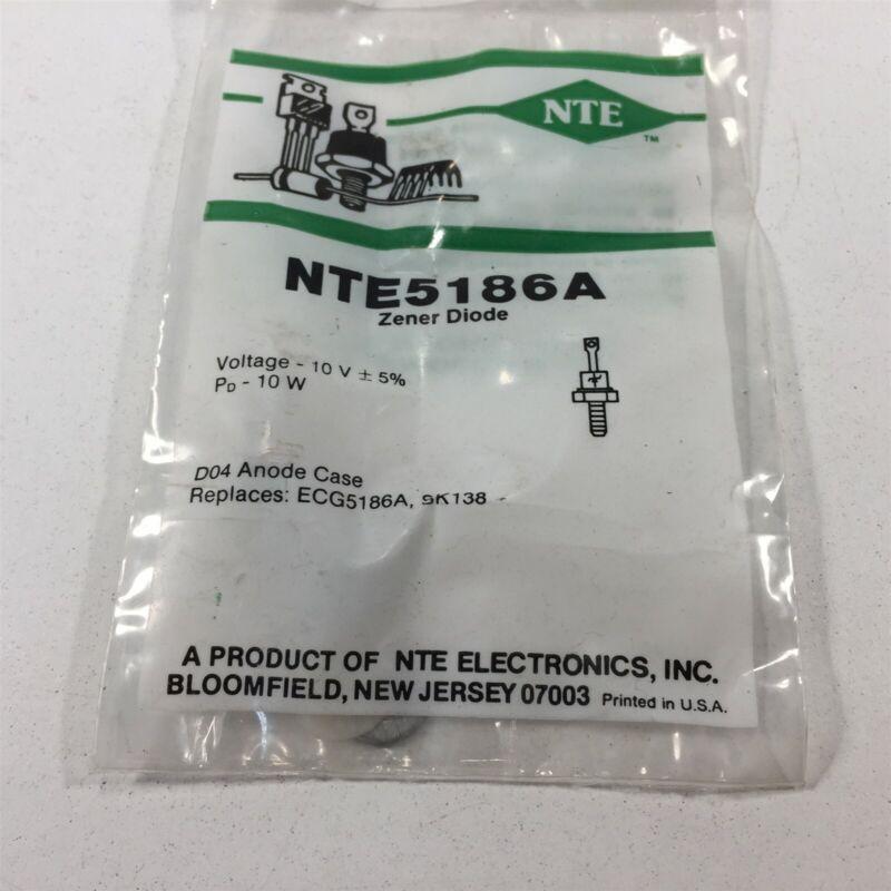 (1) NTE NTE5186A Zener Diode, 10 Watt