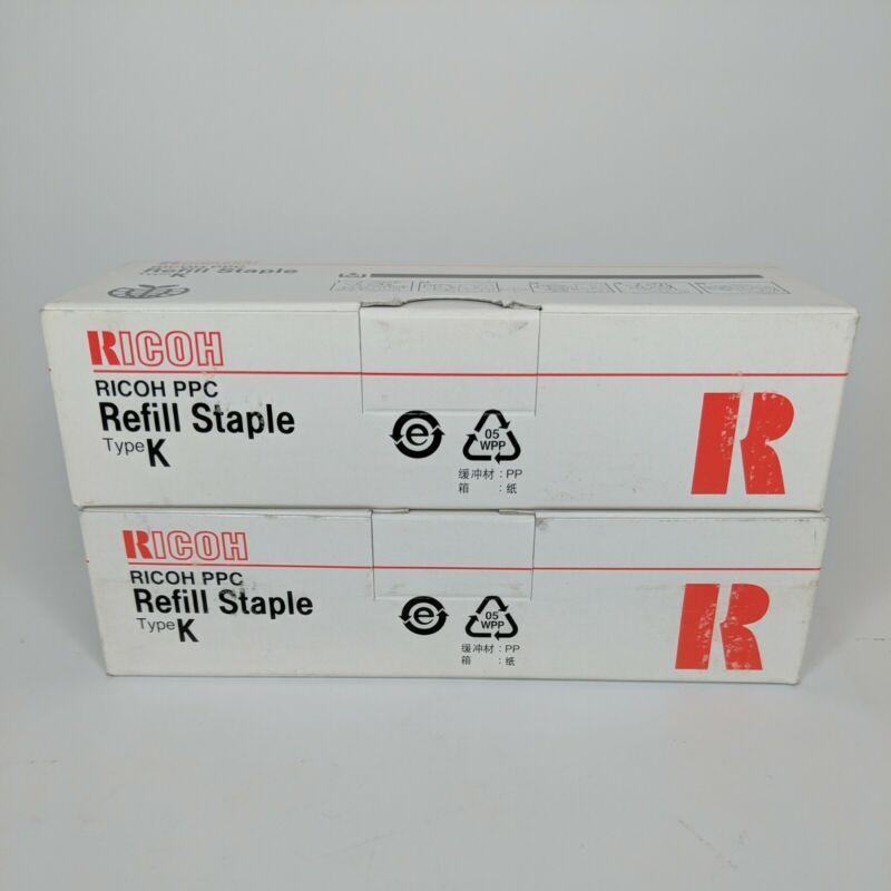 2 Boxes RICOH PPC Refill Staple Type K NO. 502R-AM 3 Cartridge Refills Per Box