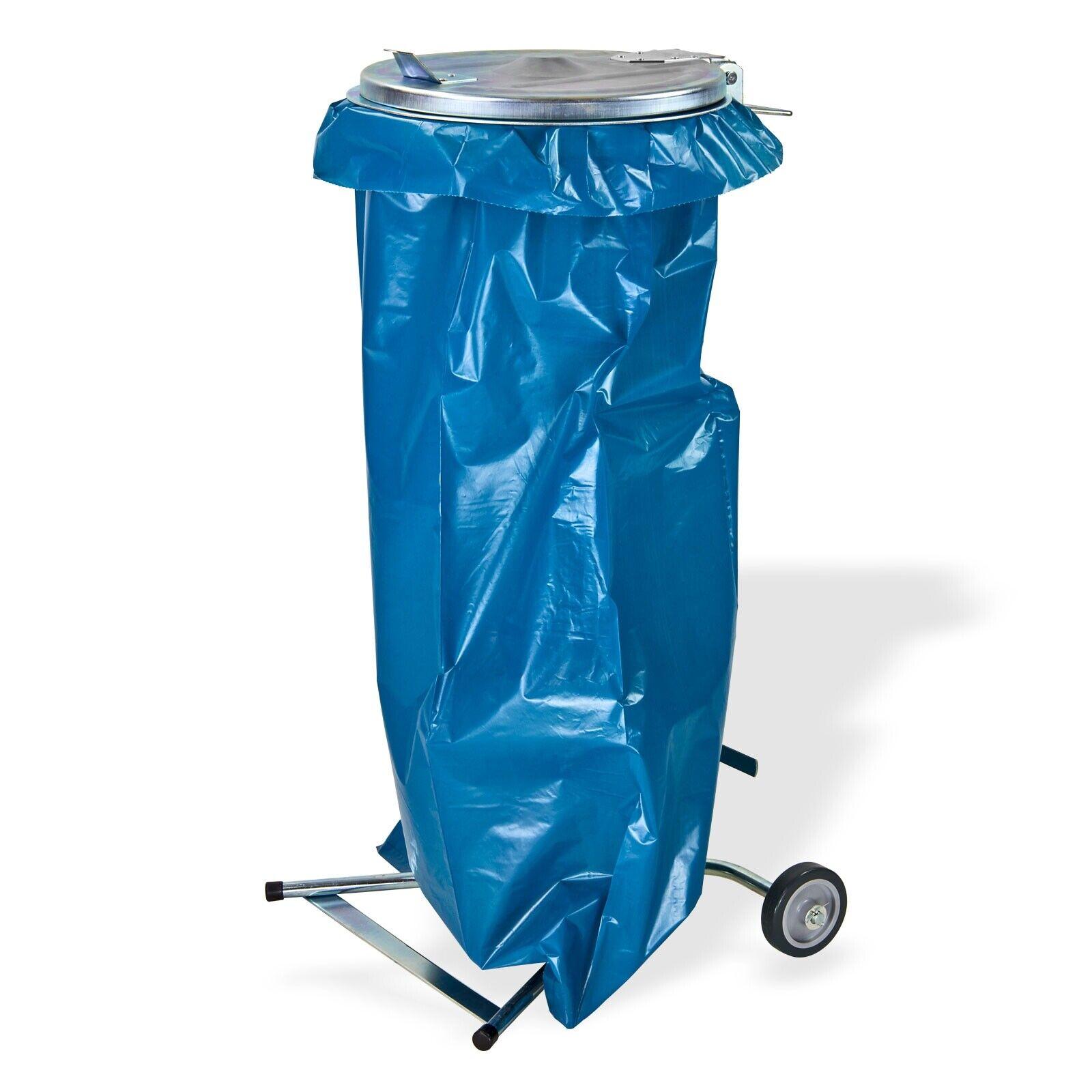 Müllsackständer Müllsackhalter Metall gelber Sack Abfallsammler fahrbar 120 l