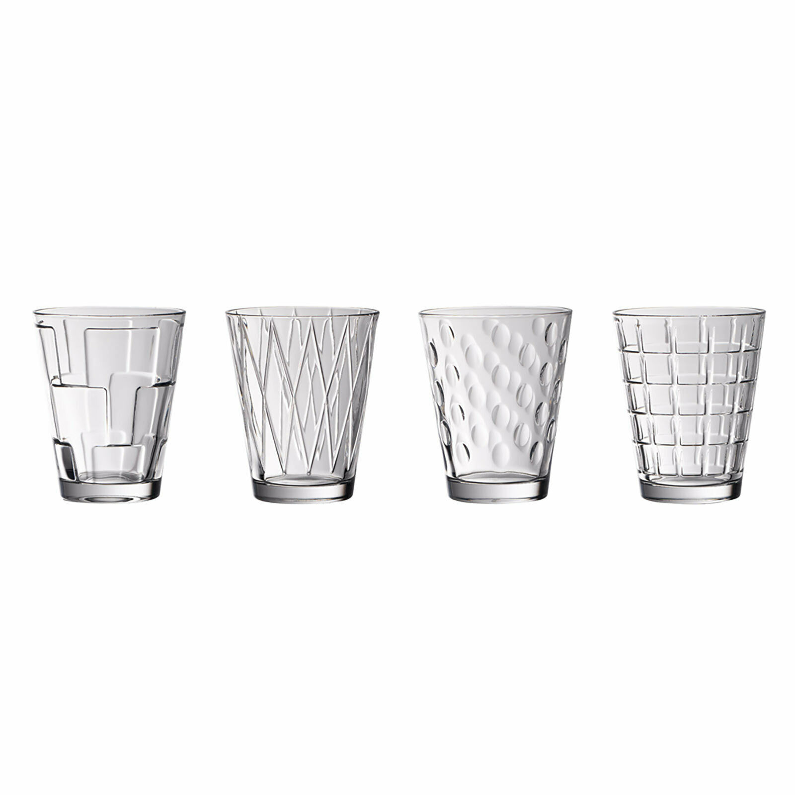Villeroy & Boch Dressed Up Wasserglas Kristallglas Trinkglas Saftglas 4er Set