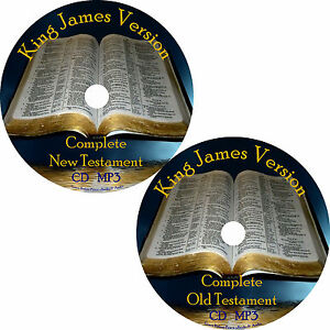 King James Version Audio Bible, Complete Christian KJV All 66 Books on 2 MP3 CDs