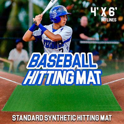 Premium Baseball Hitting Stance Mat - 6 feet x 4 feet