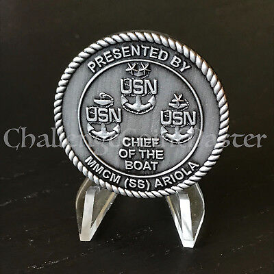 C19 USS Albany SSN 753 Chief of the Boat MMCM Ariola Challenge Coin