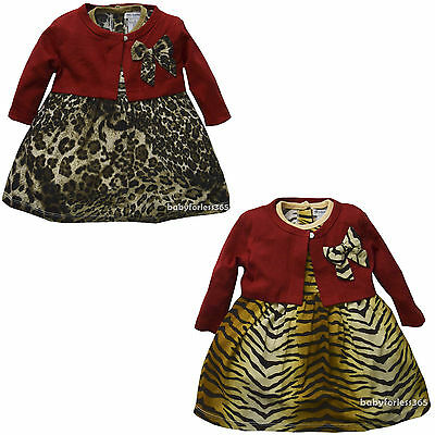 - New Infant Newborn baby girls Dress w Cardigan clothing outfit size 3 6 9 months