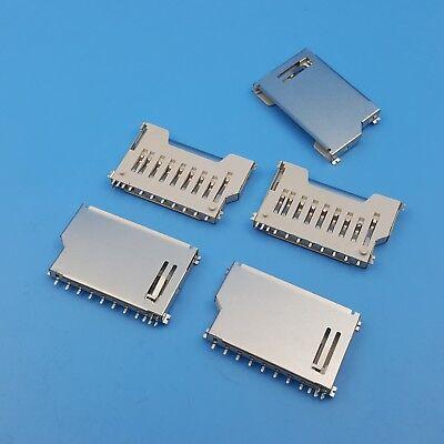 10pcs Sd Memory Card Socket Short Slot Pcb Mount Smt Solder Connector