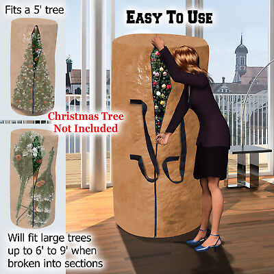 Christmas Tree Storage Bag Deluxe Heavy Duty Holiday Up to 9 Ft. Trees w Handles Christmas Tree Storage Bag