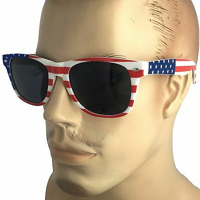 Mens Large Size AMERICAN FLAG USA Print SUNGLASSES LENS STARS STRIPES PATRIOTIC
