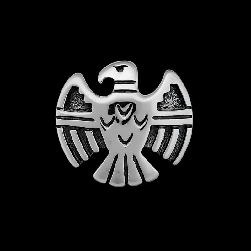 Thunderbird Pendant, 925 Sterling Silver, Shadowbox Pendant, Navajo Thunderbird