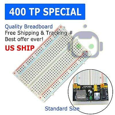 400 Tie Point Solderless Pcb Mb-102 Mb102 Breadboard For Arduino Test Diy Usa