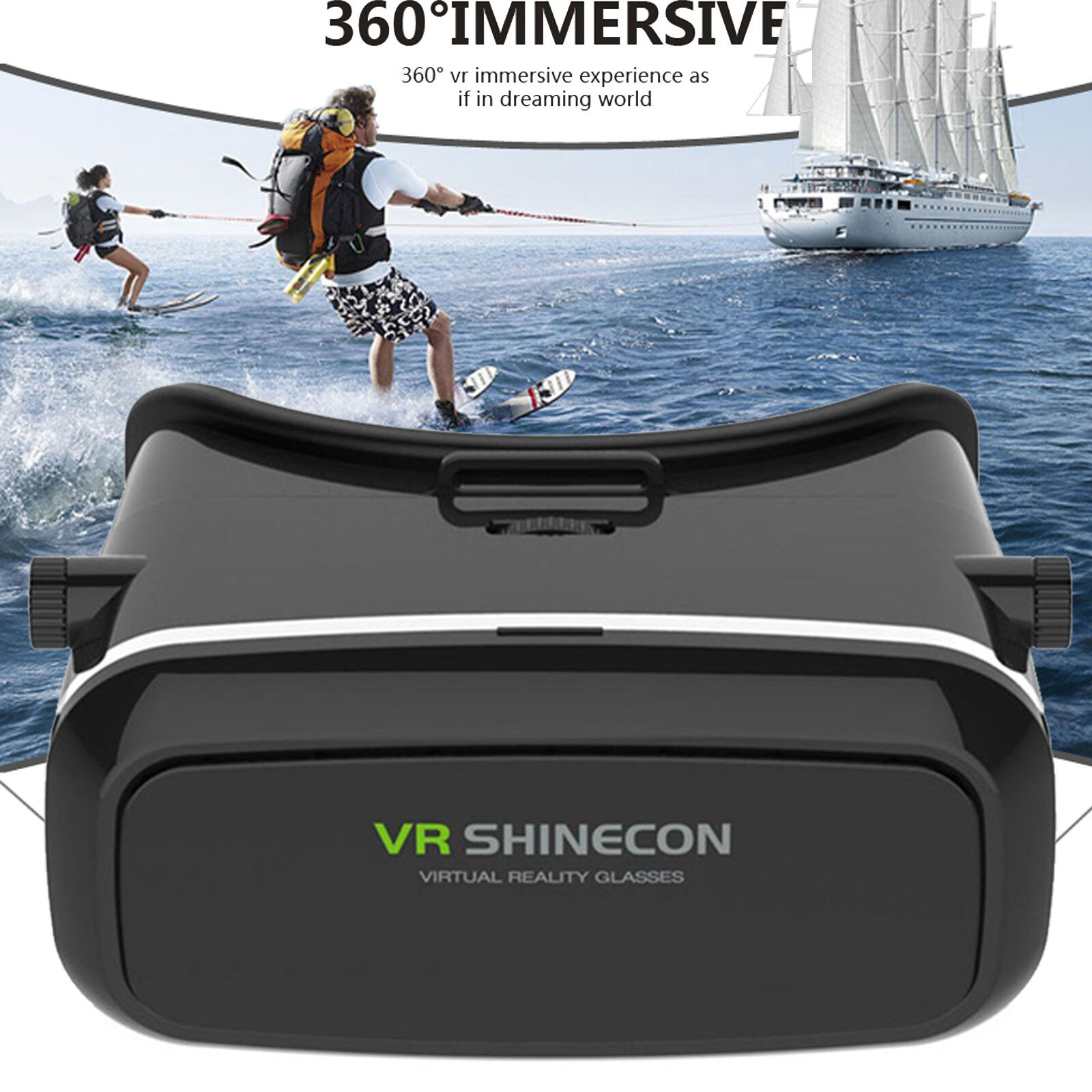 Movie Visor 3D VR Virtual Reality Glasses For Samsung Galaxy S9 S8 S7 Edge Note8