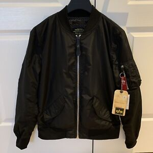 Brand New Alpha Industries L-2B Jacket Black Small Women