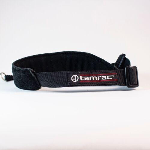 Tamrac Black shoulder camera strap leather pad Quick release vintage Canon Nikon