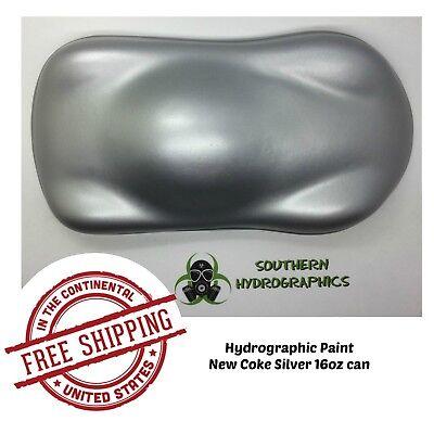 Hydrographic Film Hydro Dip Kit Paint Base Coat 16oz Aerosol New Coke Silver