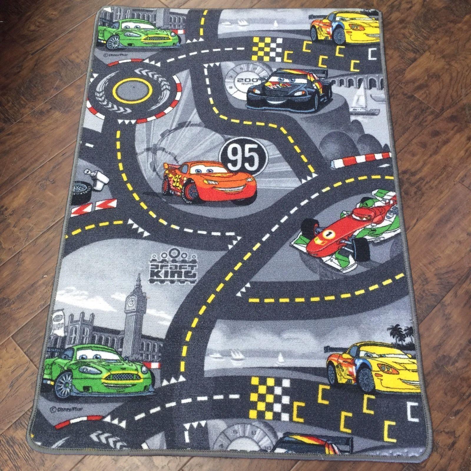 Race Car 2 Playmat Non-Slip Nursery Rug