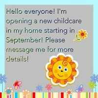 Spots available at a brand new childcare.