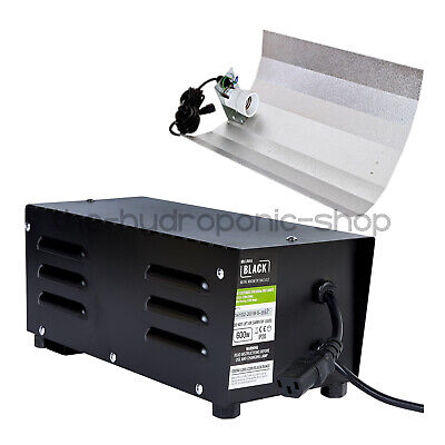 Lumii 600W Black Alloy Metal Vented Ballast With Euro Shade