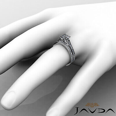 4 Prong Bridal Set Round Diamond Engagement Ring GIA F Color VS2 Clarity 1.57Ct 4