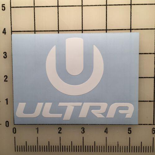 "Home Decoration - Ultra Music Festival 5"" White Vinyl Decal Sticker - BOGO"