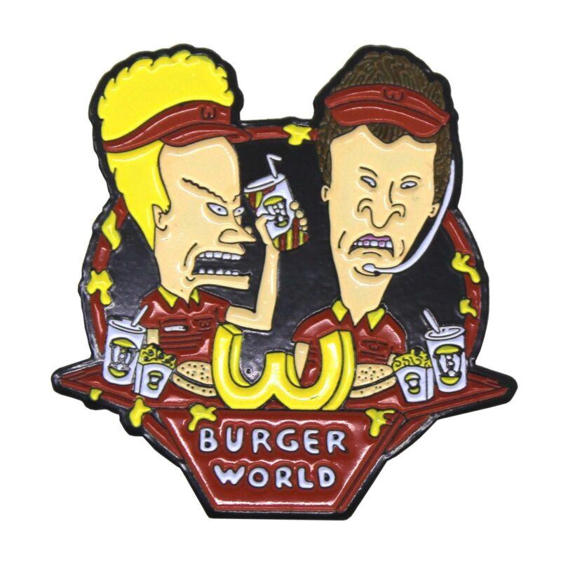 "Zobie Box - Limited Edition 2"" Enamel Lapel Pin - Beavis & Butthead - Burger Wor"