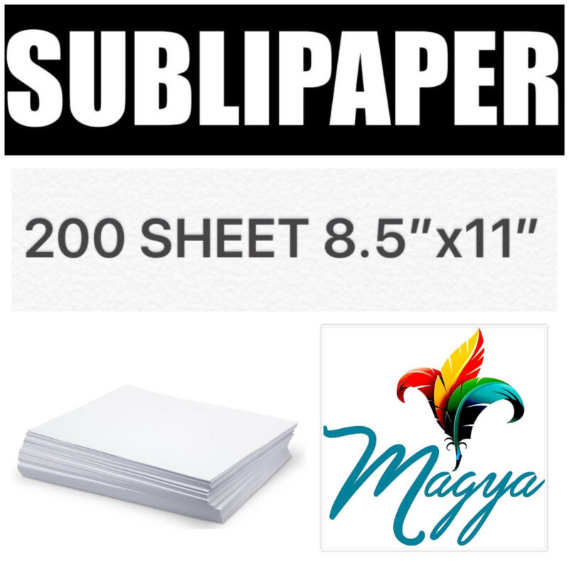 """Transfer Paper for Dye Sublimation inks 200 Sheets 8.5""""x11"""""""