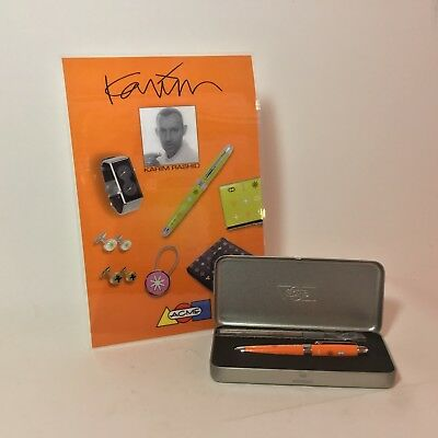 "Archived ACME Studio ""Orange"" Roller Ball Pen by Karim Rashid with Display NEW ()"