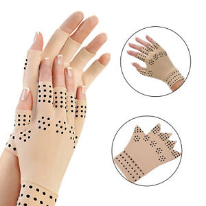 Magnetic Anti Arthritis Copper Compression Therapy Gloves Hand Pain Relief