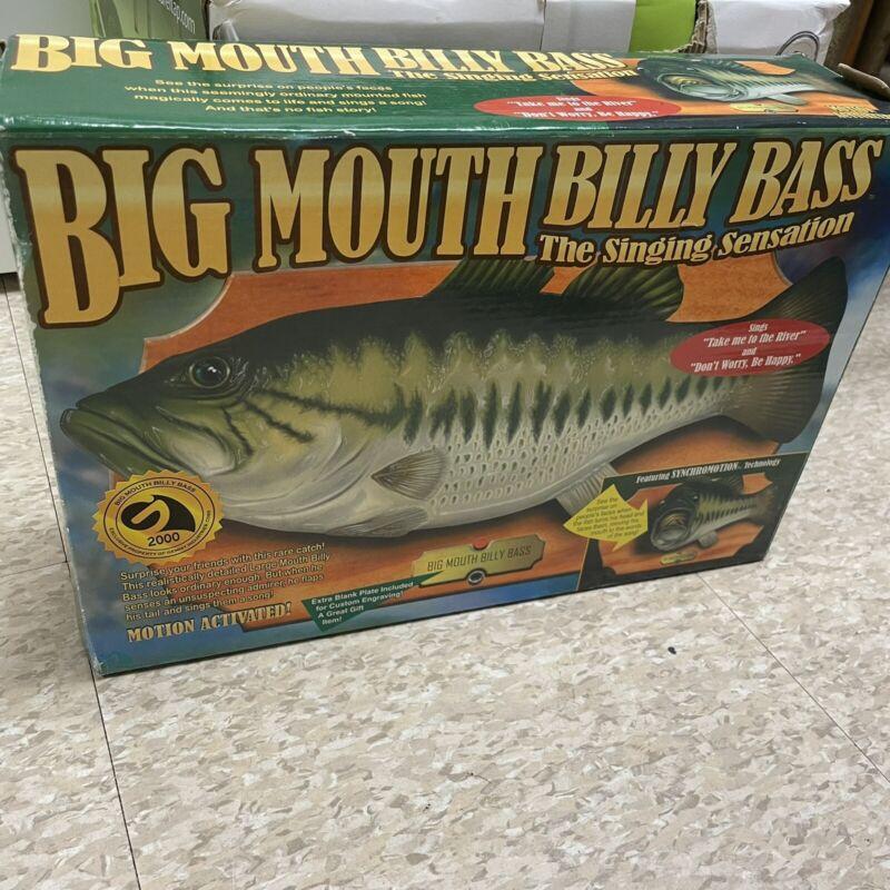 Vintage 1999 Gemmy Big Mouth Billy Bass Singing Fish Sensation Read Description