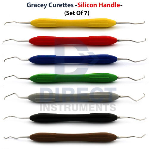 Periodontal Gracey Curettes Silicone Handle Hygienic Dental Surgical Instruments