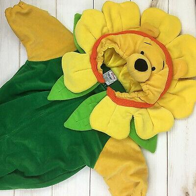 Disney Store Winnie The Pooh Flower Pea Pod Baby Halloween Costume Sz 0-3 Months