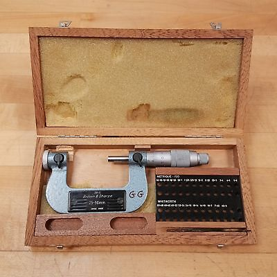 Brown Sharpe 210-12 25-50mm Thread Micrometer Without Tips - Used