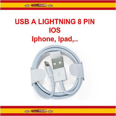 Cable USB cargador y datos Lightning para iPhone 7,8,X,XS,XR, Plus,5 ,6, SE...