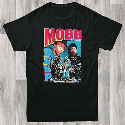 Mobb Deep Mens T shirt S-XL Retro Band Tee Rock Vintage Gangster Rap Hip Hop