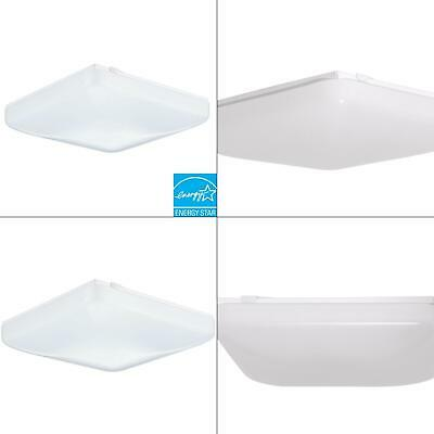 1-light white fluorescent ceiling flush mount | lithonia lighting acls fixtu low