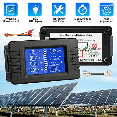 For Car Solar Dc200v Battery Voltage Meter Monitor Lcd Digital Display Voltmeter