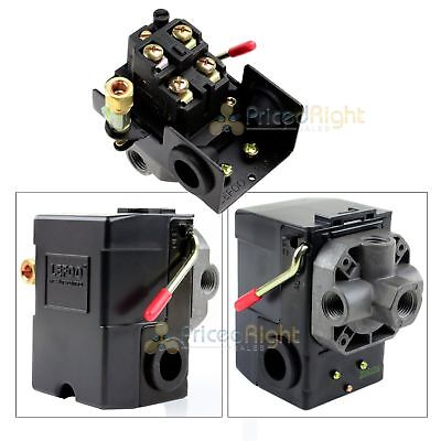 4 Port Air Compressor Pressure Switch Control Valve 95-125 Psi W Unloader New
