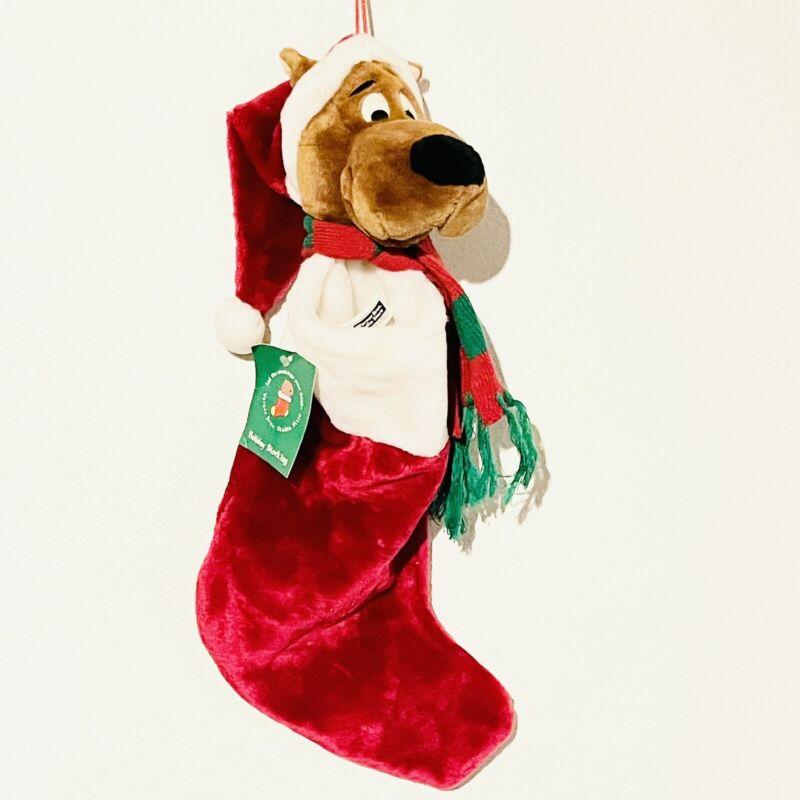 RARE VINTAGE 1997 Scooby Doo Plush Christmas Stocking Warner Bros Studio