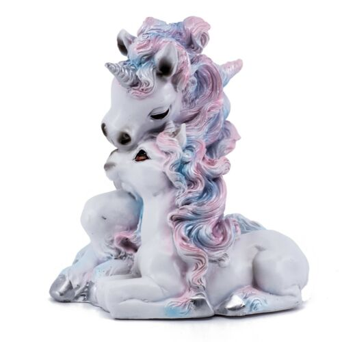 """Mother and Baby Unicorns Figurine Statue 4.75""""H Resin New In Box!"""