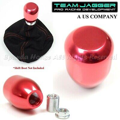 FOR JPN CARS! M8 METAL THREAD INSERT TJ USA METAL AUTO GEAR SHIFT KNOB RED JDM